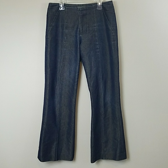 Banana Republic Denim - Banana Republic Gold Sheen Wide Leg Jeans